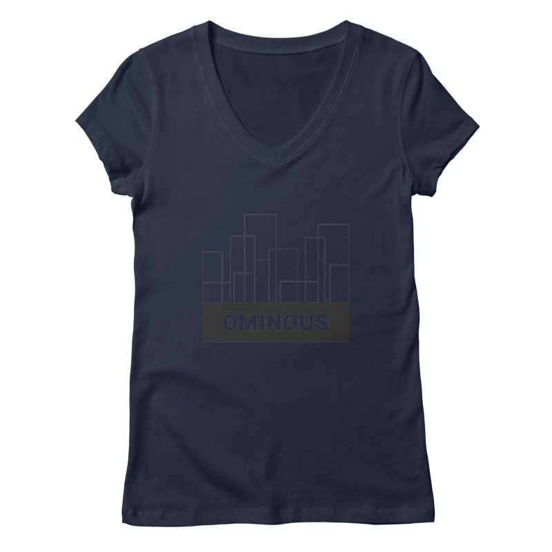 Sky-lines Women's V-Neck by Ominous Artist Shop