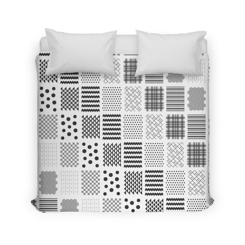 Patchwork Patterns Home Duvet by Ominous Artist Shop