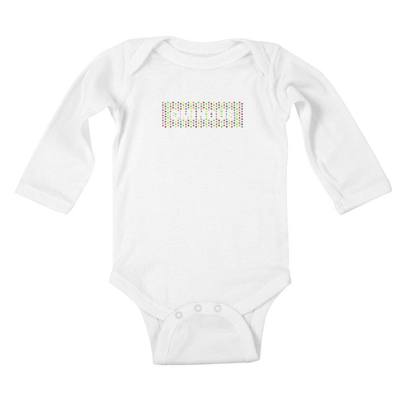 Ominous Dots Multi-colour Kids Baby Longsleeve Bodysuit by Ominous Artist Shop
