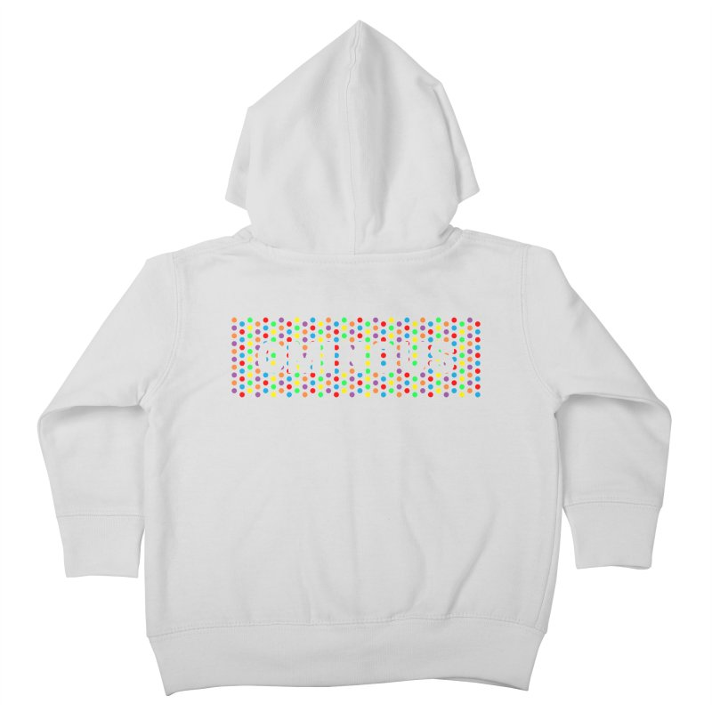 Ominous Dots Multi-colour Kids Toddler Zip-Up Hoody by Ominous Artist Shop