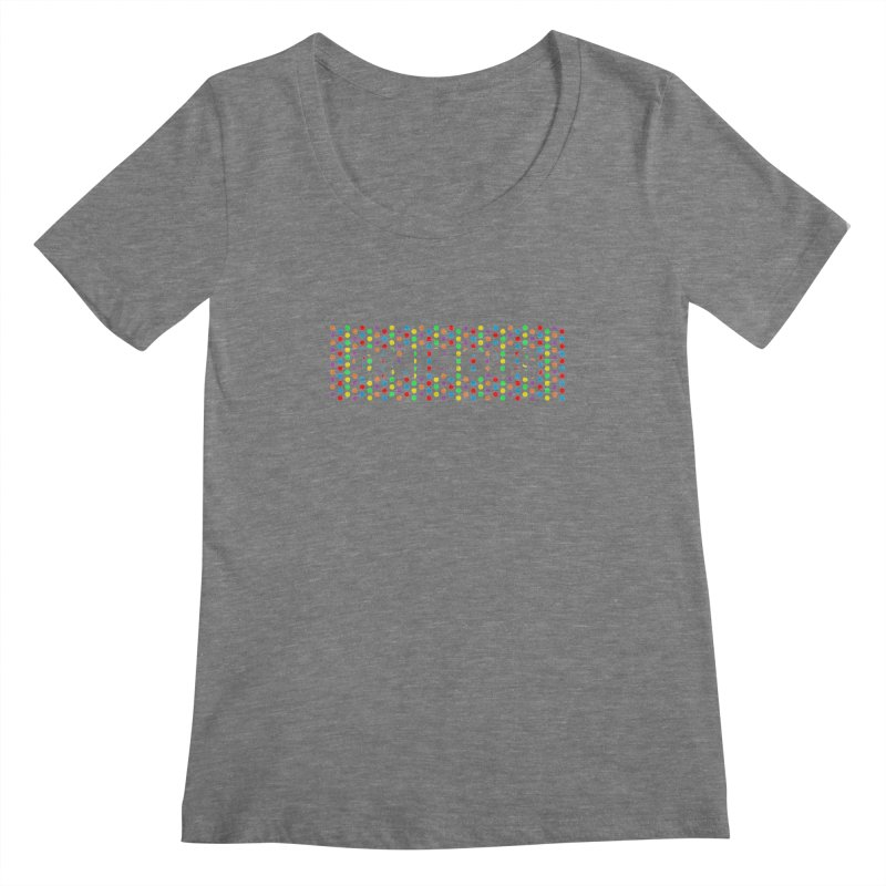 Ominous Dots Multi-colour Women's Scoopneck by Ominous Artist Shop
