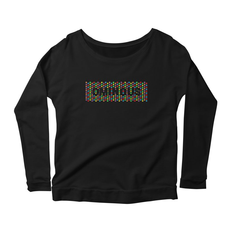 Ominous Dots Multi-colour Women's Longsleeve Scoopneck  by Ominous Artist Shop