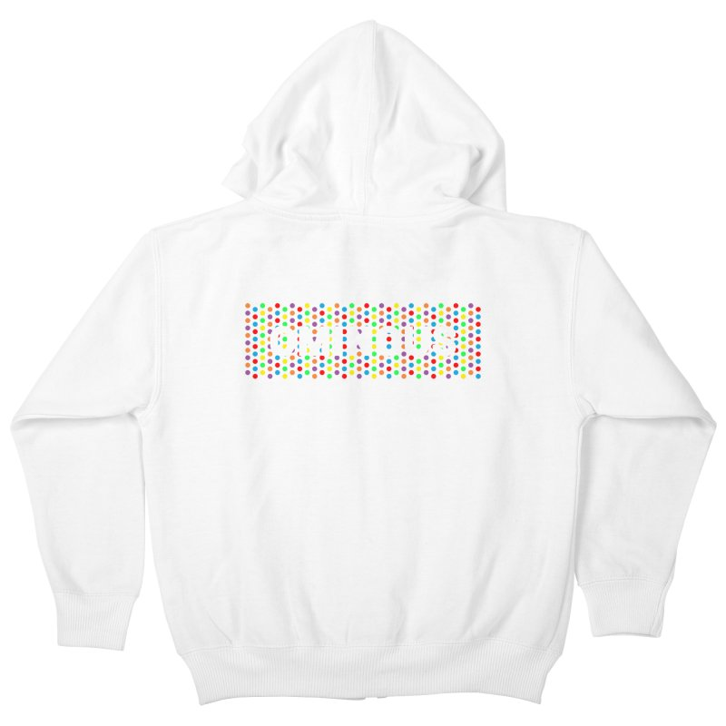 Ominous Dots Multi-colour Kids Zip-Up Hoody by Ominous Artist Shop