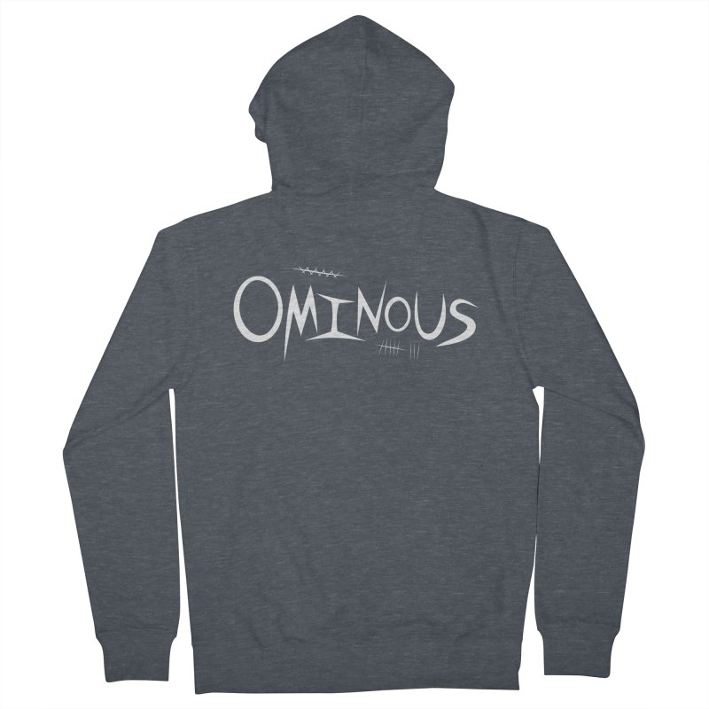 Ominous Insane White Men's French Terry Zip-Up Hoody by Ominous Artist Shop