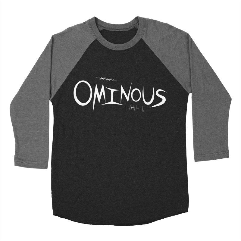 Ominous Insane White Men's Baseball Triblend Longsleeve T-Shirt by Ominous Artist Shop