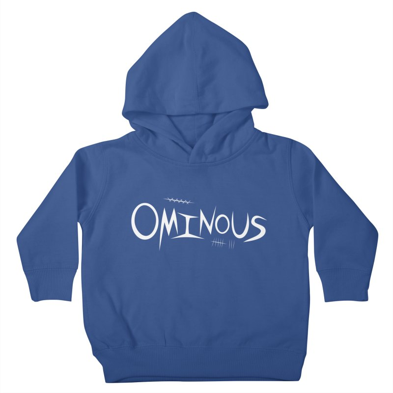 Ominous Insane White Kids Toddler Pullover Hoody by Ominous Artist Shop