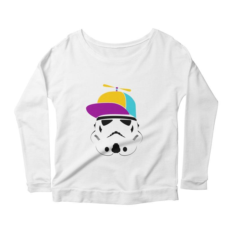 Propeller Trooper Women's Scoop Neck Longsleeve T-Shirt by Ominous Artist Shop