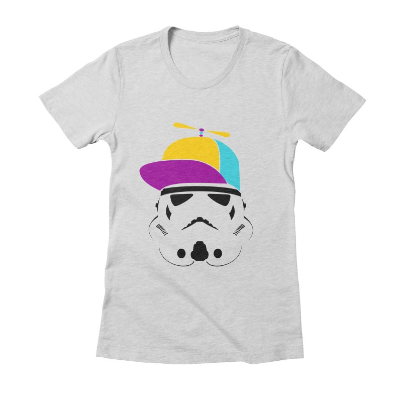 Propeller Trooper Women's Fitted T-Shirt by Ominous Artist Shop