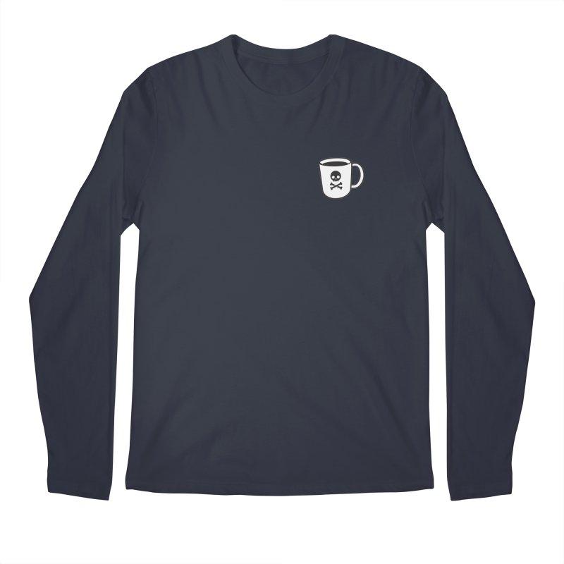 Coffee & Crossbones Men's Longsleeve T-Shirt by Ominous Artist Shop