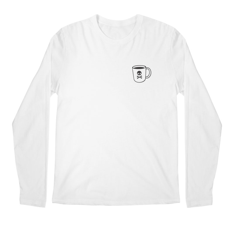 Coffee & Crossbones Men's Regular Longsleeve T-Shirt by Ominous Artist Shop