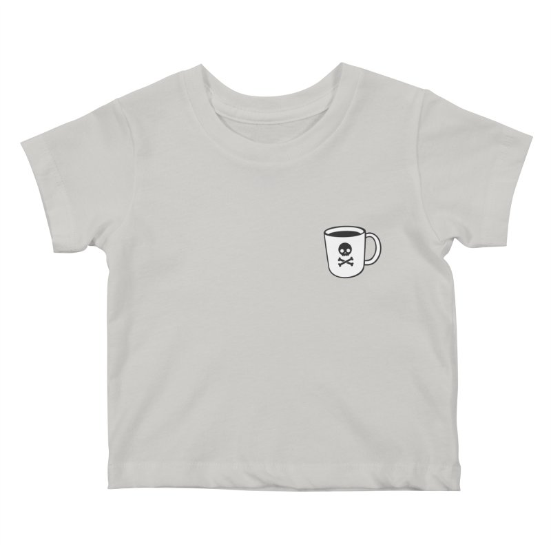 Coffee & Crossbones Kids Baby T-Shirt by Ominous Artist Shop