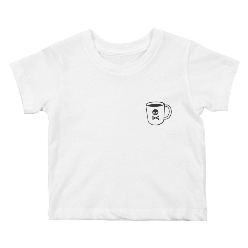 Coffee & Crossbones Kids Baby T-Shirt by Ominous Artist Shop