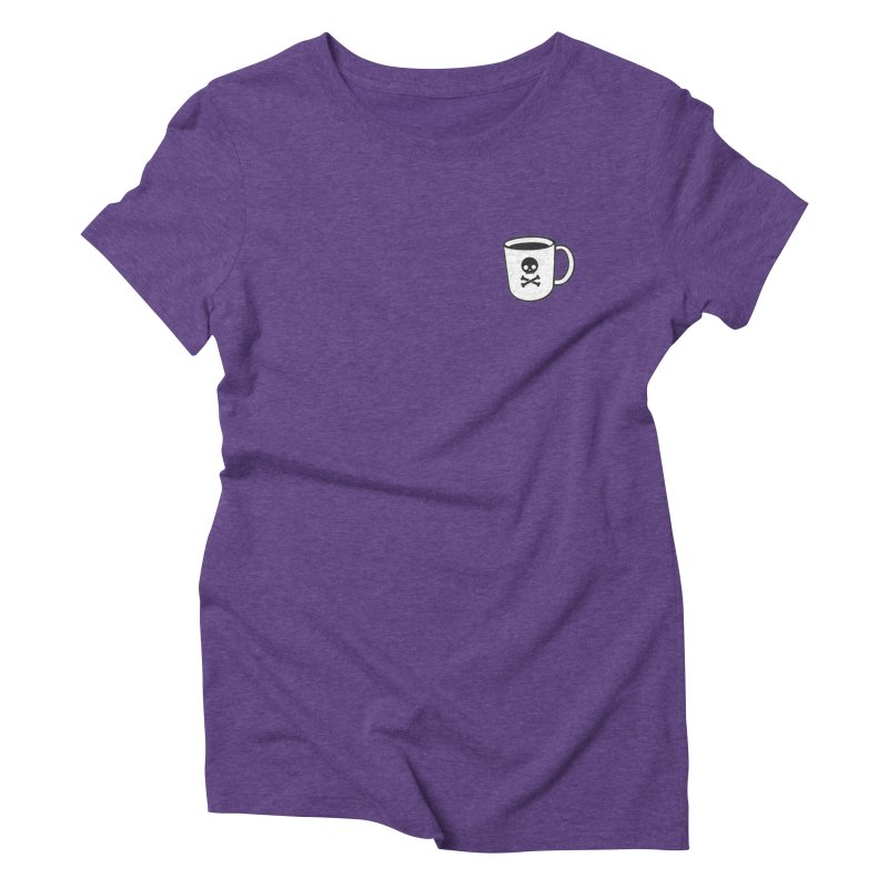 Coffee & Crossbones Women's Triblend T-Shirt by Ominous Artist Shop