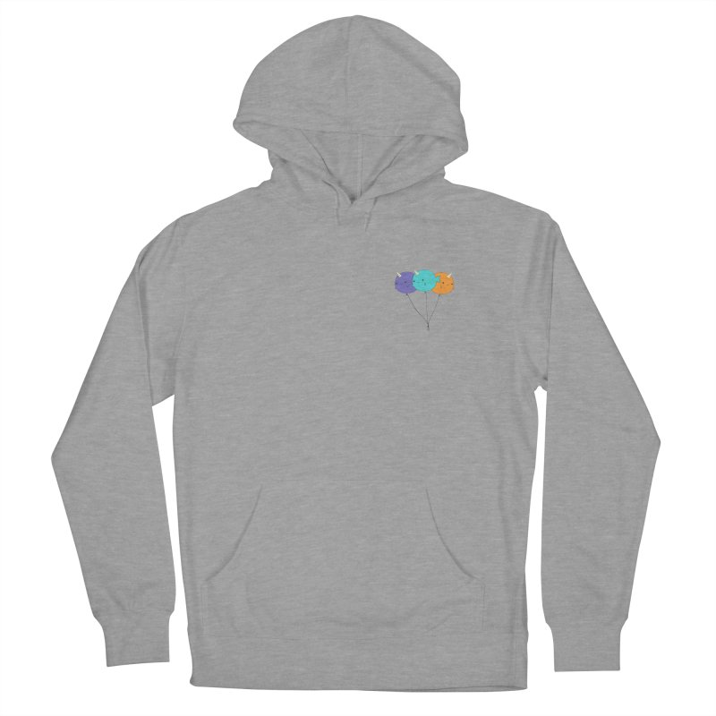 Narwhal Balloons Men's French Terry Pullover Hoody by Ominous Artist Shop