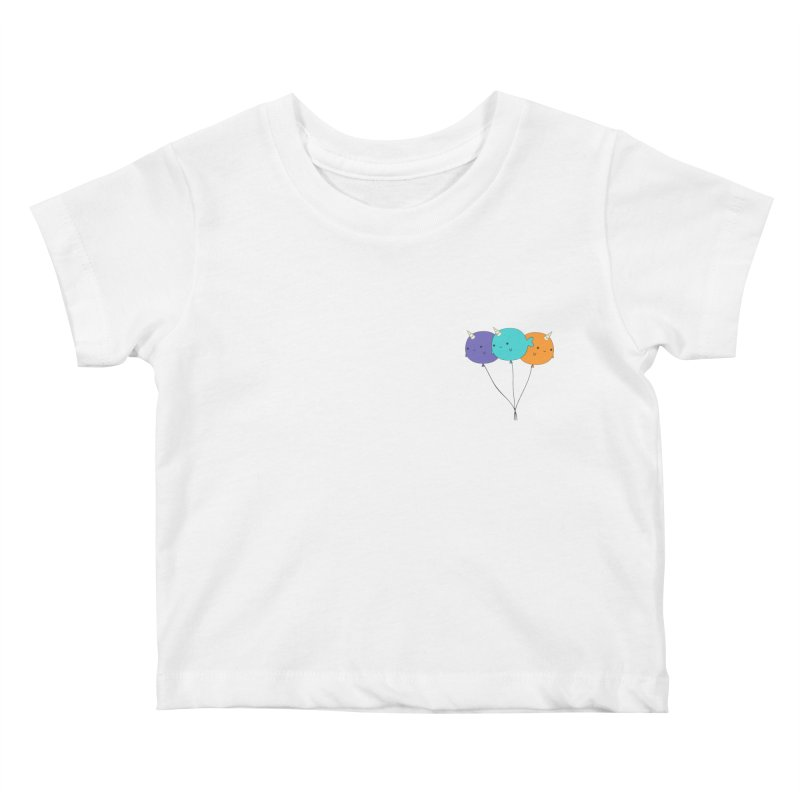 Narwhal Balloons Kids Baby T-Shirt by Ominous Artist Shop