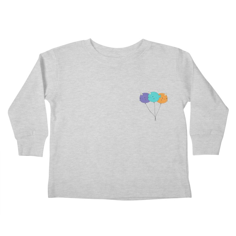 Narwhal Balloons Kids Toddler Longsleeve T-Shirt by Ominous Artist Shop