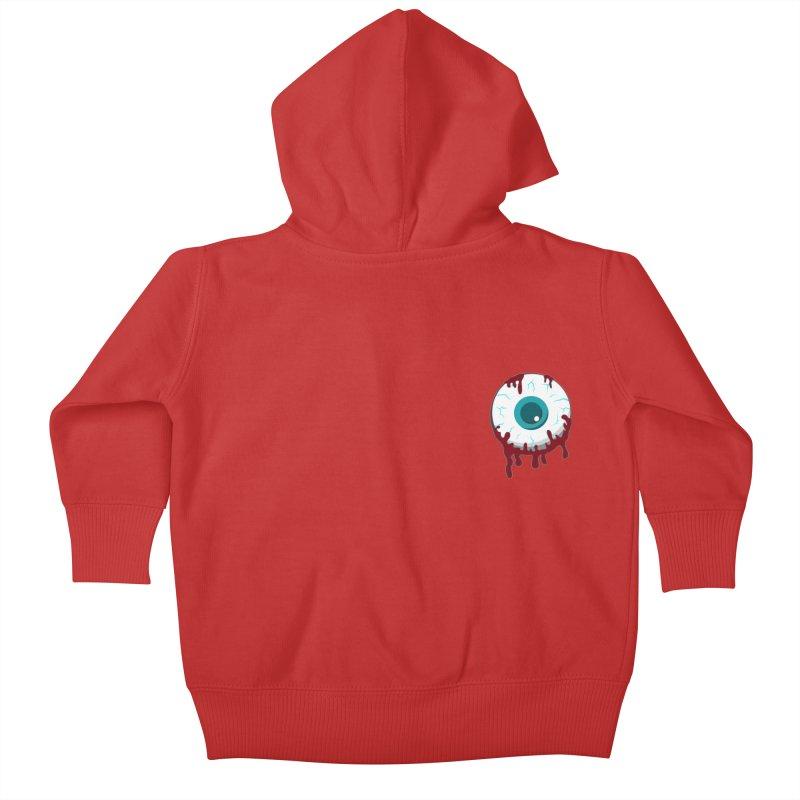 Enucleation Kids Baby Zip-Up Hoody by Ominous Artist Shop
