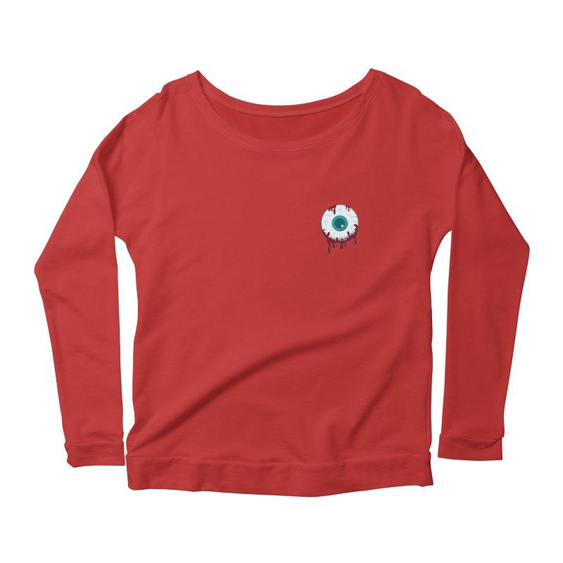 Enucleation Women's Scoop Neck Longsleeve T-Shirt by Ominous Artist Shop