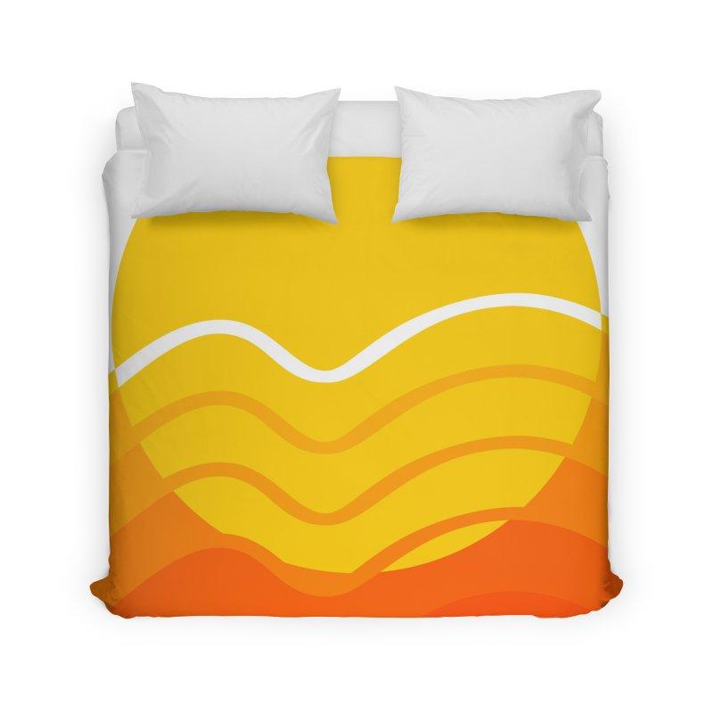Scored Sunrise Home Duvet by Ominous Artist Shop