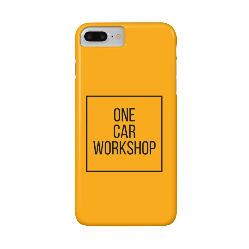 One Car Workshop Logo Black Accessories Phone Case by One Car Workshop Store