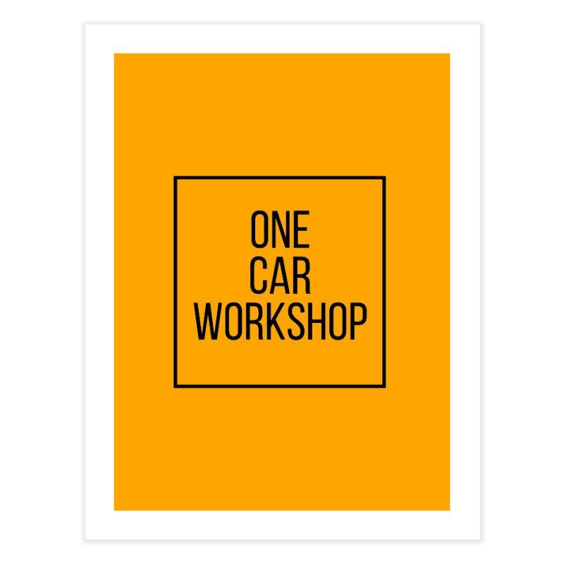 One Car Workshop Logo Black   by One Car Workshop Store