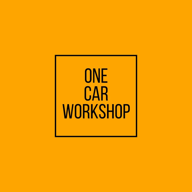 One Car Workshop Logo Black Home Fine Art Print by One Car Workshop Store