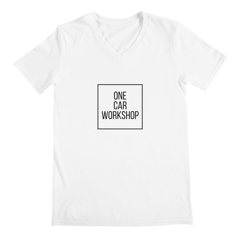 One Car Workshop Logo Black Men's V-Neck by One Car Workshop Store