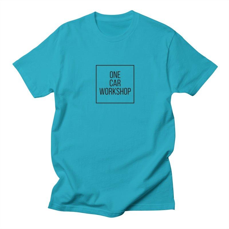 One Car Workshop Logo Black Men's Regular T-Shirt by One Car Workshop Store