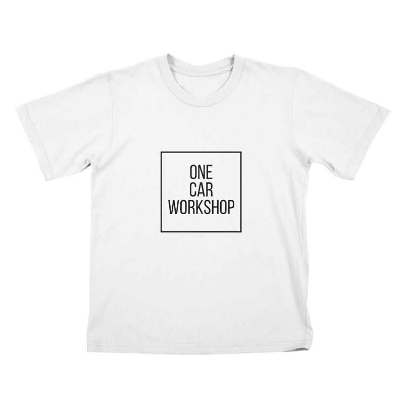 One Car Workshop Logo Black Kids T-Shirt by One Car Workshop Store