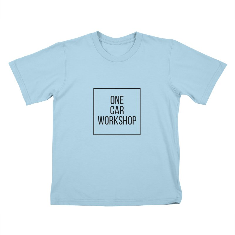 One Car Workshop Logo Black Kids T-shirt by One Car Workshop Store