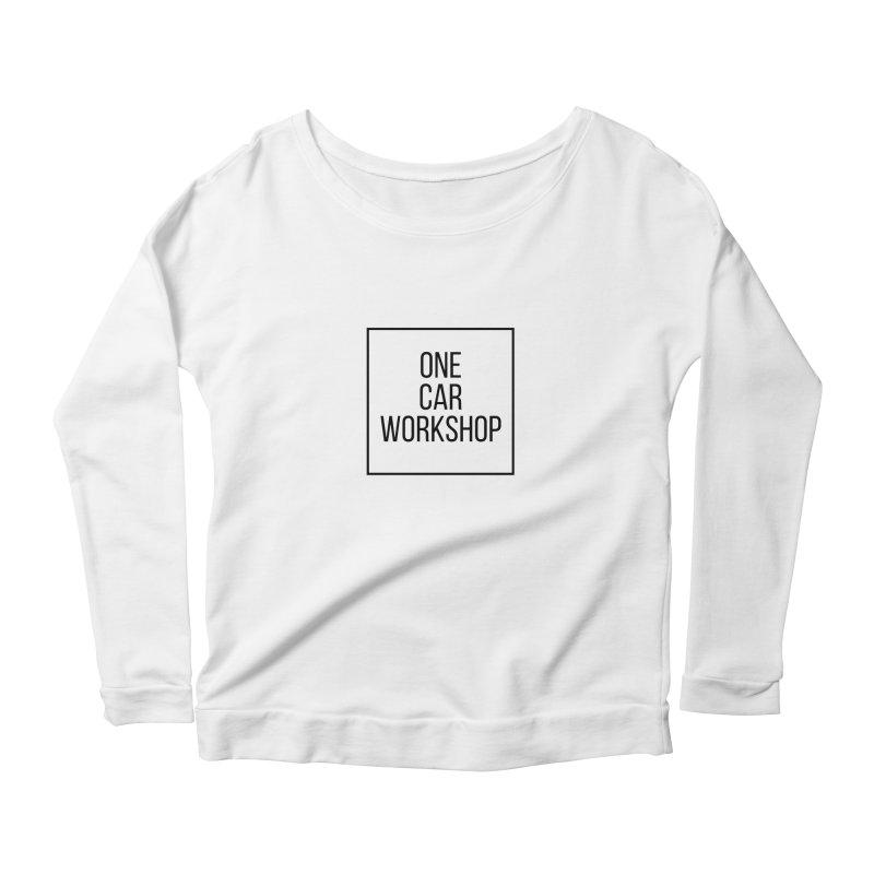 One Car Workshop Logo Black Women's Longsleeve Scoopneck  by One Car Workshop Store