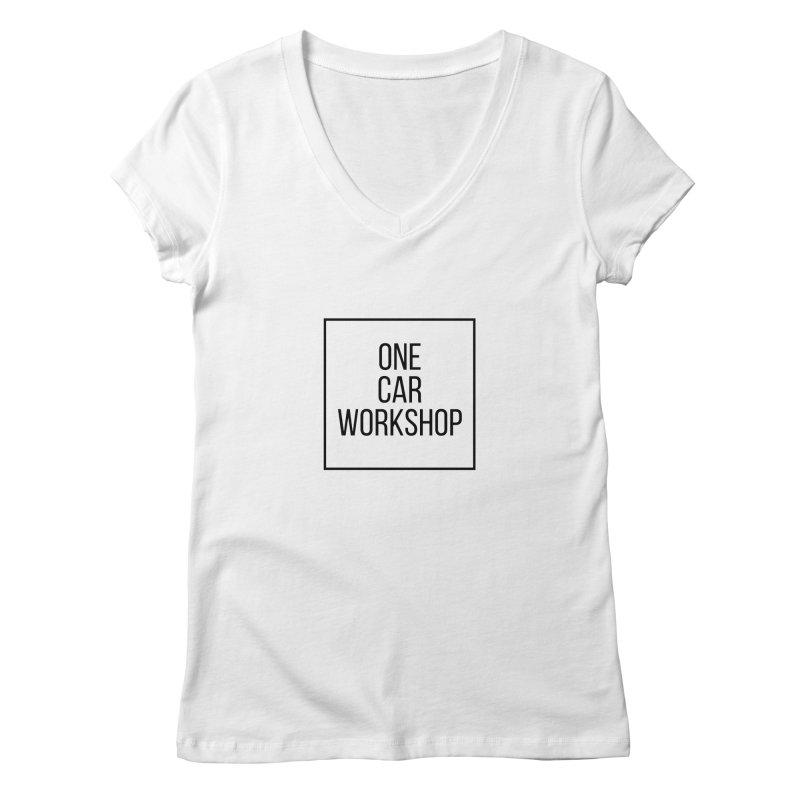 One Car Workshop Logo Black Women's Regular V-Neck by One Car Workshop Store