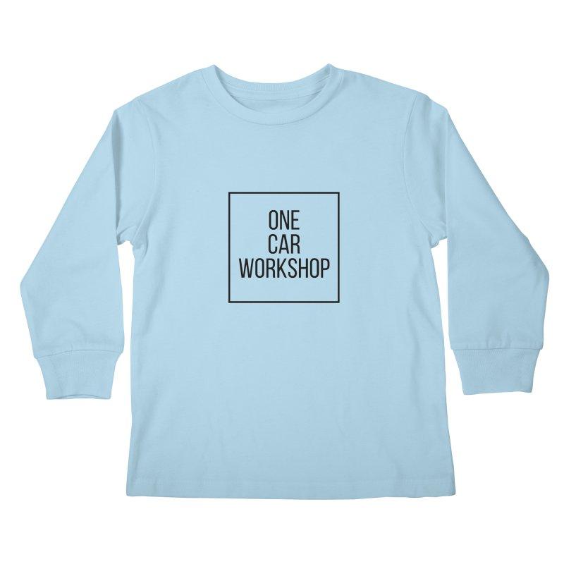 One Car Workshop Logo Black Kids Longsleeve T-Shirt by One Car Workshop Store