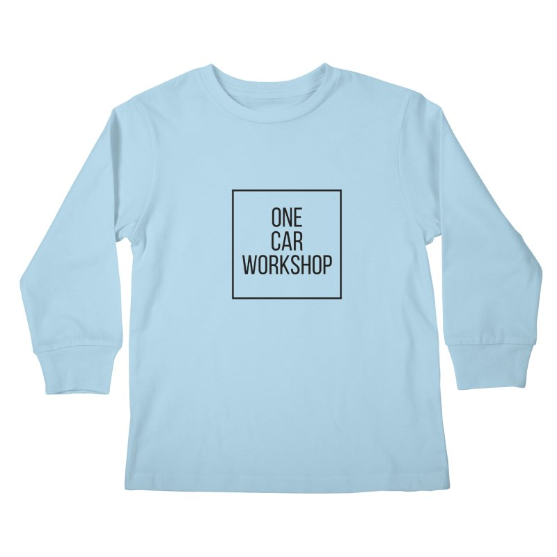 One Car Workshop Logo Black Kids Longsleeve T-Shirt by One Car Workshop Store