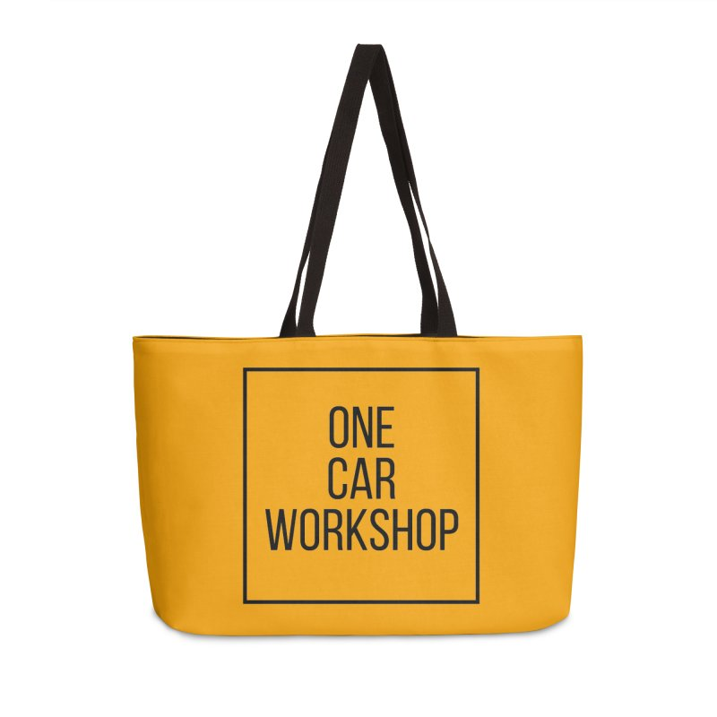 One Car Workshop Logo Black Accessories Weekender Bag Bag by One Car Workshop Store