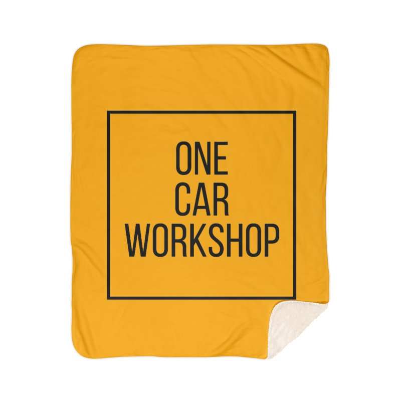 One Car Workshop Logo Black Home Sherpa Blanket Blanket by One Car Workshop Store