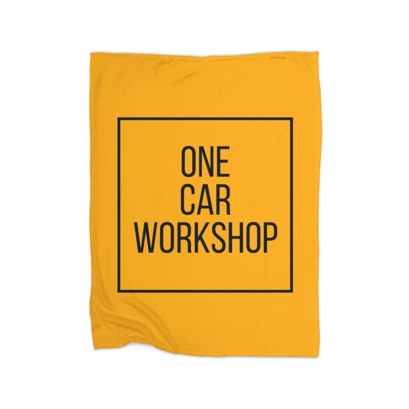 One Car Workshop Logo Black Home Fleece Blanket Blanket by One Car Workshop Store