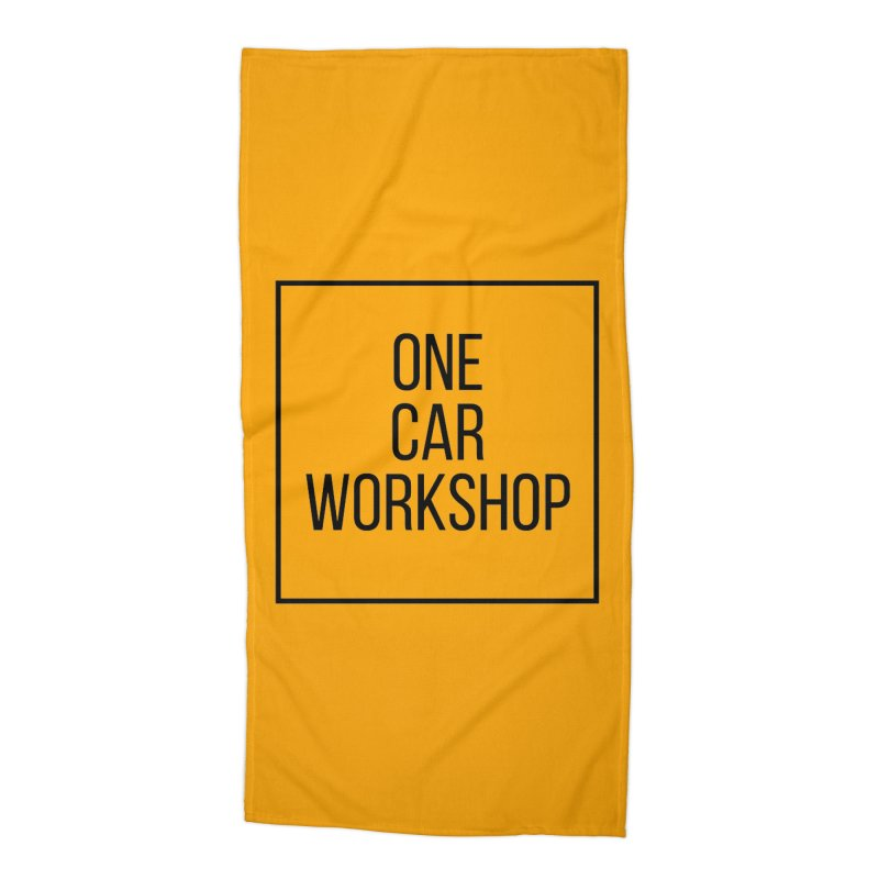 One Car Workshop Logo Black Accessories Beach Towel by One Car Workshop Store