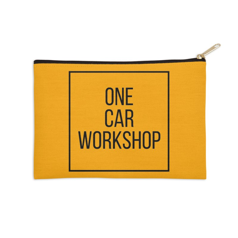 One Car Workshop Logo Black Accessories Zip Pouch by One Car Workshop Store