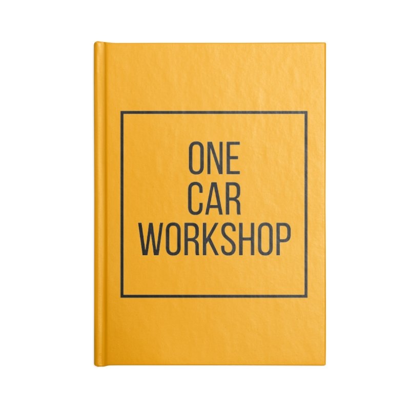 One Car Workshop Logo Black Accessories Blank Journal Notebook by One Car Workshop Store
