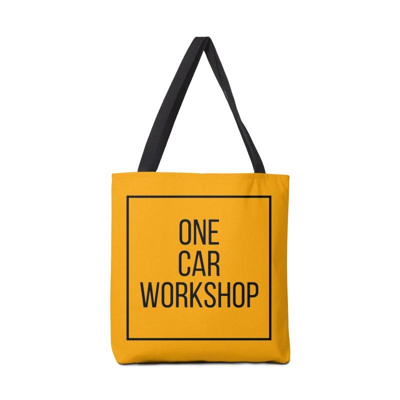 One Car Workshop Logo Black Accessories Tote Bag Bag by One Car Workshop Store