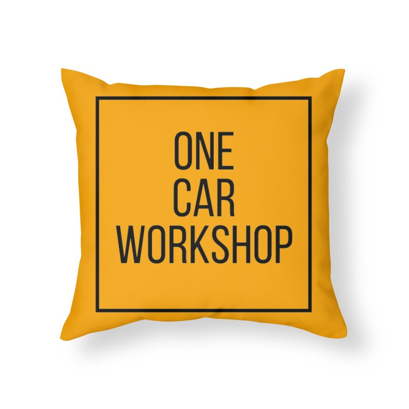 One Car Workshop Logo Black Home Throw Pillow by One Car Workshop Store