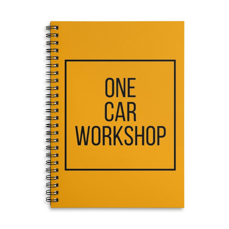One Car Workshop Logo Black Accessories Lined Spiral Notebook by One Car Workshop Store