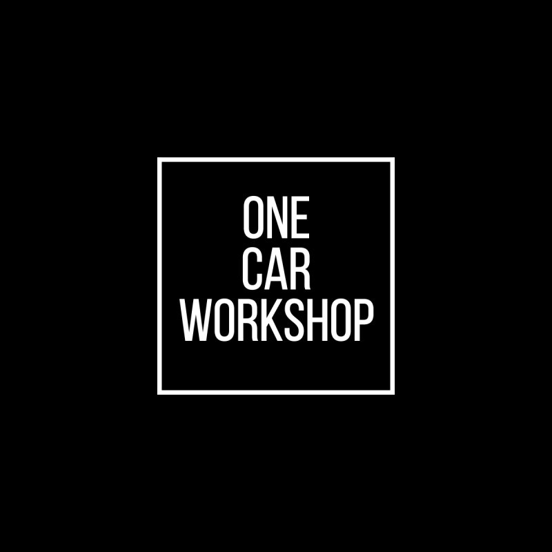 One Car Workshop Logo White Men's V-Neck by One Car Workshop Store