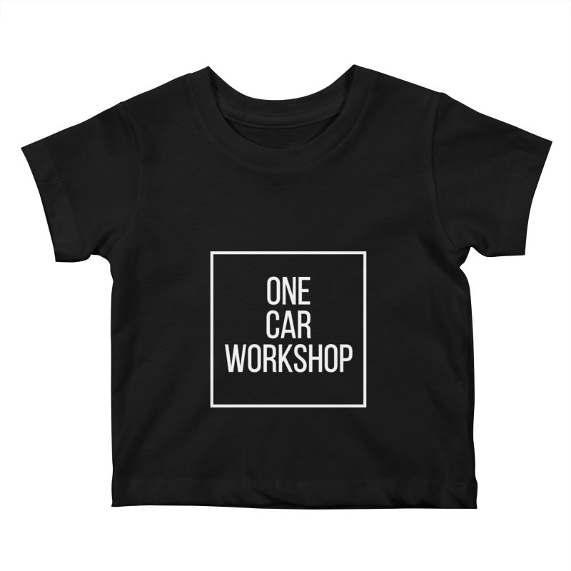 One Car Workshop Logo White Kids Baby T-Shirt by One Car Workshop Store