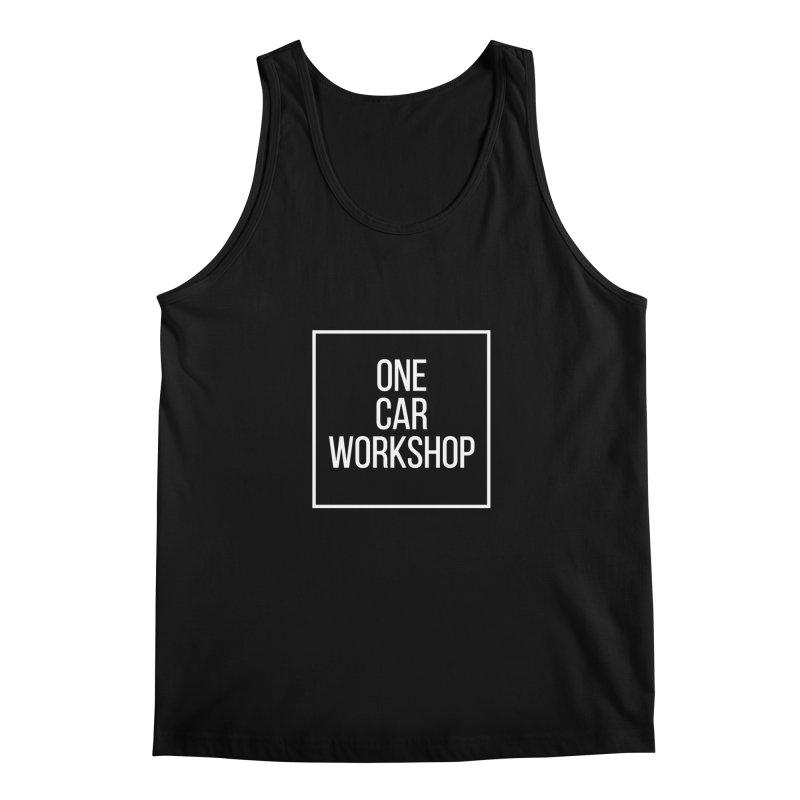One Car Workshop Logo White Men's Regular Tank by One Car Workshop Store