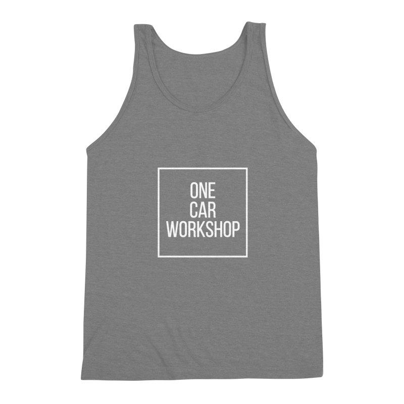One Car Workshop Logo White Men's Triblend Tank by One Car Workshop Store