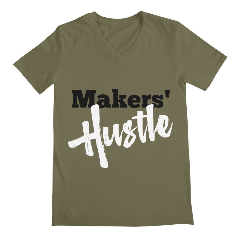 Makers' Hustle Men's V-Neck by One Car Workshop Store