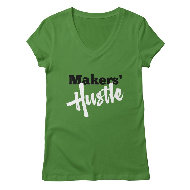 Makers' Hustle Women's Regular V-Neck by One Car Workshop Store