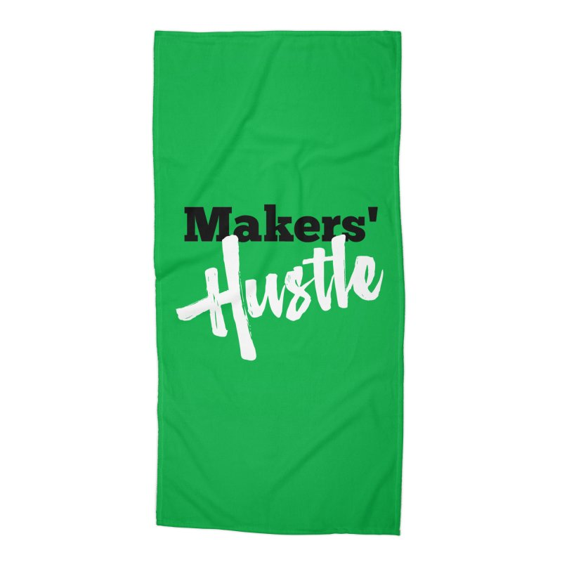 Makers' Hustle Accessories Beach Towel by One Car Workshop Store